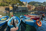 Moored Fishing Boats in the Small Port of Vernazza  Cinque Terre  Liguria  Italy