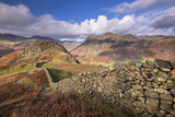 Drystone Wall Near the Langdale Valley in the Lake District  Cumbria  England Autumn (November)