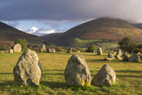 Castlerigg Stone Circle with Blencathra Mountain Behind  Lake District  Cumbria