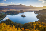 Lake Bled and the Julian Alps Illuminated at Sunrise  Lake Bled  Bled  Upper Carniola  Slovenia