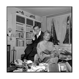 Simone Signoret and Her Husband Yves Montand