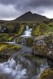 Rocky Stream with Waterfalls Below Slaettaratindur Mountain  Eysturoy  Faroe Islands