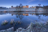 Alnwick Castle Reflected in the River Aln on a Frosty Winter Morning  Northumberland  England