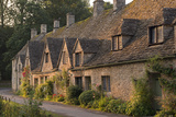 Picturesque Cottages at Arlington Row in the Cotswolds Village of Bibury  Gloucestershire  England
