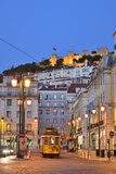 Sao Jorge Castle and Praca Da Figueira at the Historic Centre of Lisbon Portugal