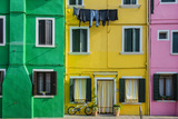 Colourful Painted Houses in Burano  Veneto  Italy