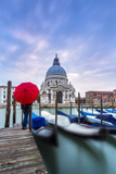 Italy  Veneto  Venice Santa Maria Della Salute Church on the Grand Canal  at Sunset