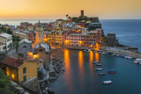 Top View at Sunrise of the Picturesque Sea Village of Vernazza  Cinque Terre  Liguria  Italy