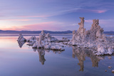 Salt Pillar Formations at Sunset  South Tufa  Mono Lake  California  USA