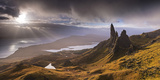 Dramatic Light on the Old Man of Storr  Isle of Skye  Scotland Autumn (November)