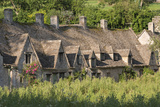 Pretty Cottages at Arlington Row in the Cotswolds Village of Bibury  Gloucestershire  England