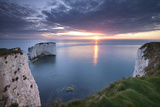 Sunrise over Old Harry Rocks  Jurassic Coast  Dorset  England Spring
