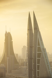 Bahrain  Manama  City Center Skyline Looking Towards Bahrain World Trade Center