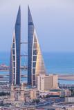 Bahrain  Manama  View of Bahrain World Trade Center