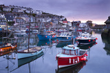 Sunrise over the Picturesque Harbour at Mevagissey  Cornwall  England Spring