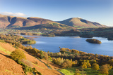 Derwent Water Skiddaw and Blencathra  Lake District National Park  Cumbria