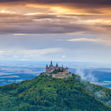 Hohenzollern Castle and Surrounding Countryside at Sunrise  Swabia  Baden Wuerttemberg