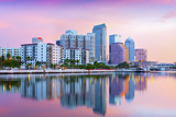 Florida  Tampa  Skyline  Dawn  Hillsborough River