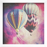 Pink Balloons In Space