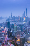 Pudong Skyline and East Nanjing Road  Shanghai  China