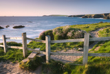 Wooden Stile on Clifftops  South West Coast Path Long Distance Footpath  Cornwall