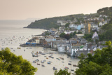 The Cornish Town of Fowey on the Fowey Estuary  Cornwall  England Summer