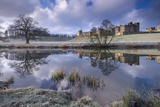 Cold and Frosty Conditions at Alnwick Castle in Northumberland  England Winter