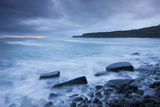 Stormy Sunset at Kimmeridge Bay on the Jurassic Coast  Dorset  England Winter