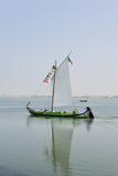 Traditional Boat (Moliceiro) Used to Collect Seaweed in the Ria De Aveiro  Beira Litoral  Portugal