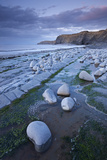 Rock Pools on Kilve Beach  Somerset  England Summer