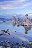 Tufa Towers in Mono Lake at Twilight  California  USA Autumn (October)