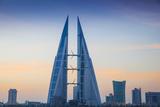 Bahrain  Manama  Bahrain Bay  Bahrain World Trade Center and City Skyline