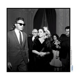 Elizabeth Taylor and Her Husband Richard Burton at a Party