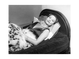 Michèle Morgan Laid on a Bed  1951