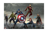 Thor  Hulk  Captain America  Hawkeye  Black Widow  and Iron Man from The Avengers: Age of Ultron