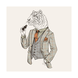 Tiger in Suit