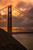 Stormy Morning Sunrise at Golden Gate Bridge