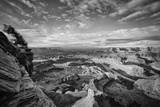 Classic Dead Horse Point in Black and White  Moab Utah