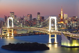 View of Tokyo Bay Area at Twilight