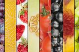 Collage of Seasonal Summer Fruits