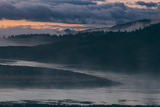 Misty Foggy Morning at Yellowstone River Bend