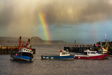 Rainbow over Fishing Boats at Lyme Regis