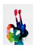 Jimmy Watercolor Aluminium par Lora Feldman