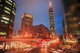 Intersection of Taipei City  Taiwan