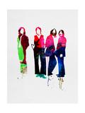 Beatles Watercolor Aluminium par Lora Feldman