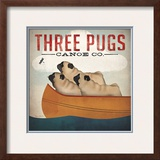 Three Pugs in a Canoe