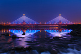 Suspension Bridge at Night in Miaoli  Taiwan