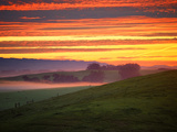 Colorful Sunrise and Clouds in the Petaluma Hills