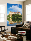 Sigmaringen Castle Reflected in the River Danube  Swabia  Baden Wurttemberg  Germany  Europe
