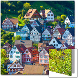 Traditional Half Timbered Buildings in Schiltach's Picturesque Medieval Altstad  Baden-Wurttemberg